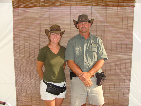 Whispering Pines Mobile Zoo owners - Kirk Elya & Claudia Herrmann